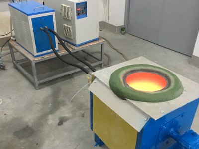 15KW Medium Frequency Induction Melting Furnace